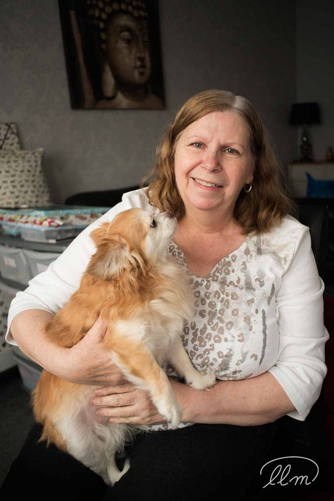 Carol Street, founder of Carol's Home Delights with her dog Lola
