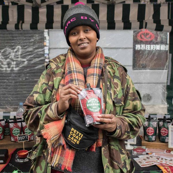 founder of basbaas hot sauce Amiira Ismail