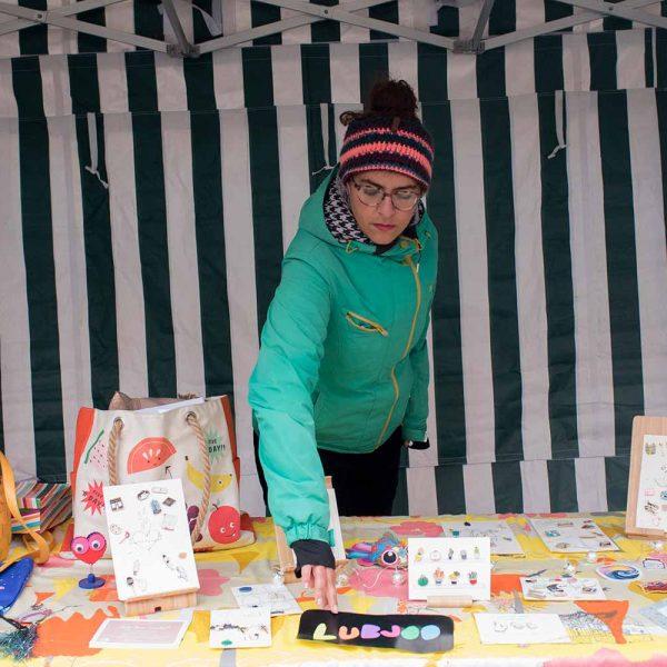 Anila Babla owner of Lubjoo at Lady Lane Market