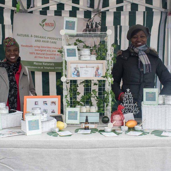 Mazsu Naturals founders at Lady Lane Market