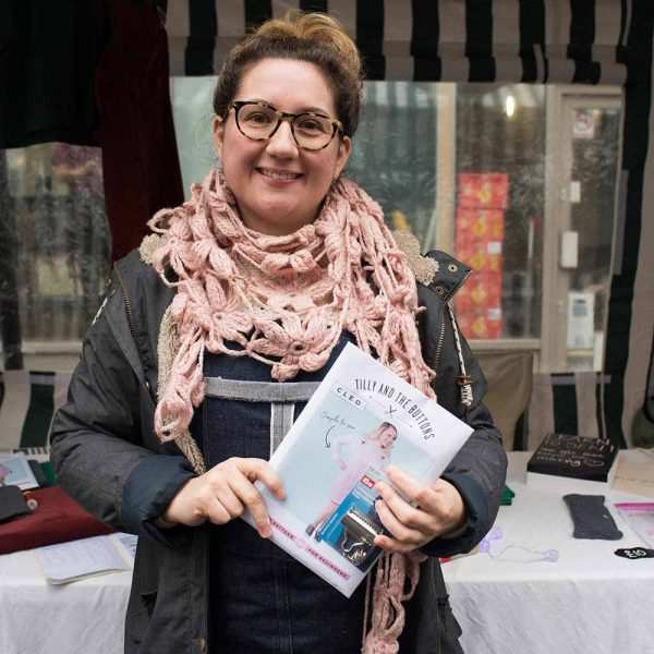 lottie lee gough founder of the wild orchard fabric company at lady lane market